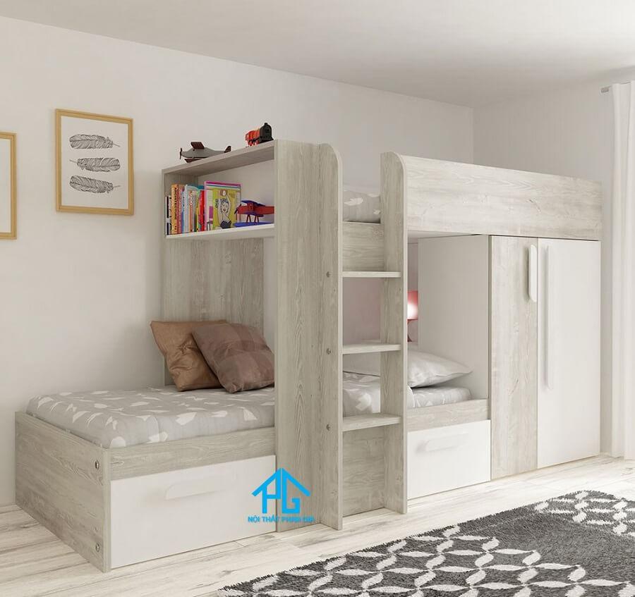 giường tầng bằng gỗ thông minh