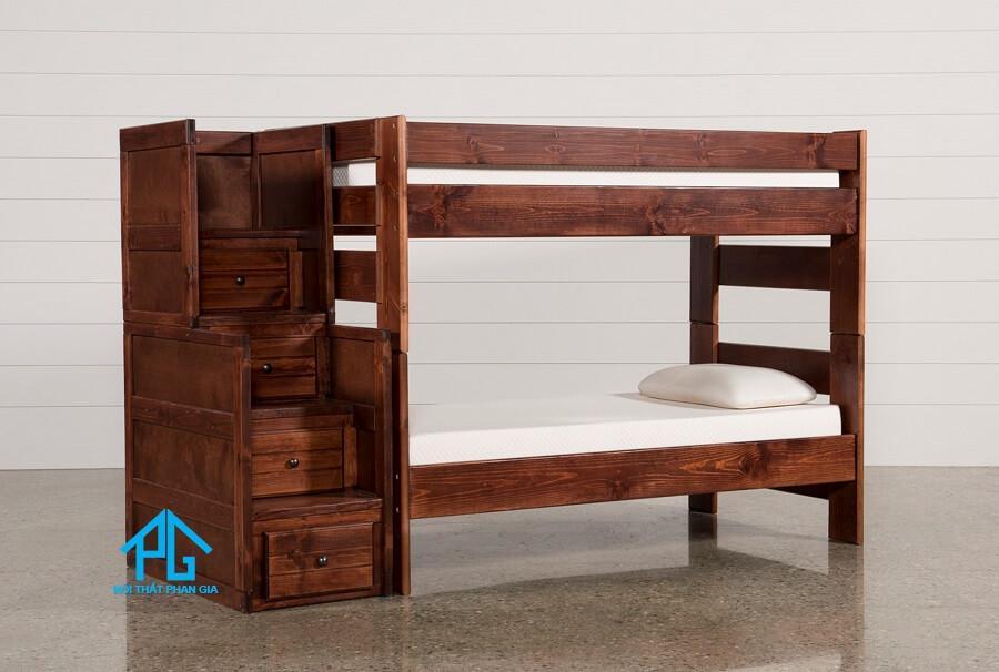 giường tầng gỗ tự nhiên cho bé