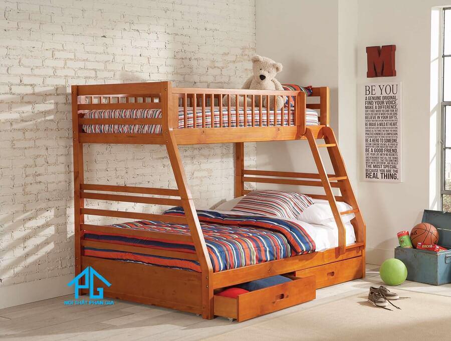 giường tầng gỗ xoan đào