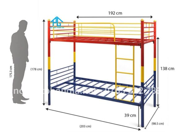 kích thước giường tầng gia đình