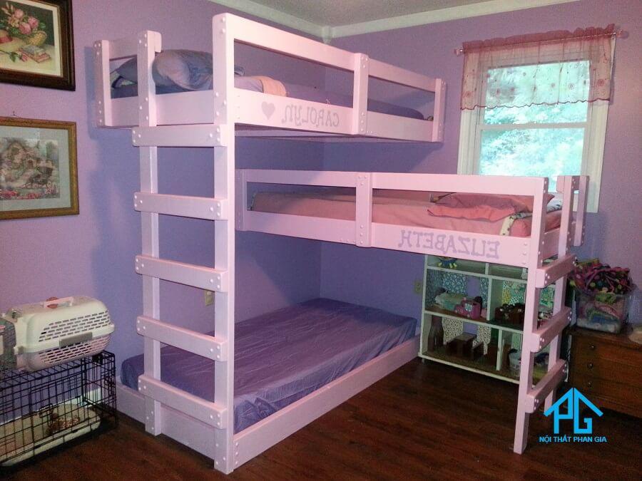 kích thước giường tầng gỗ