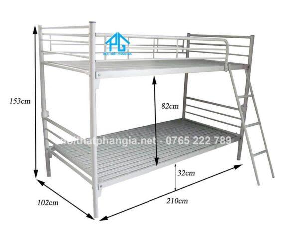 kích thước giường tầng quân đội