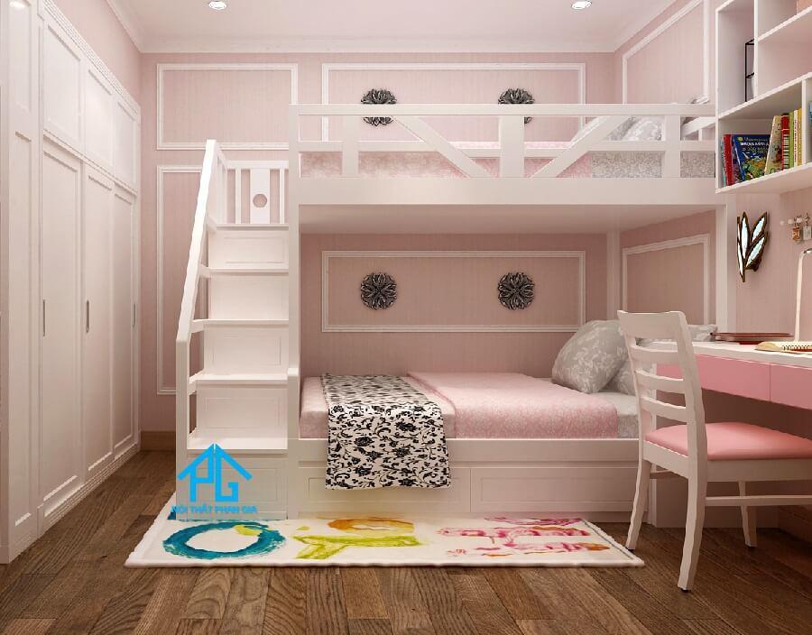 mẫu giường tầng dành cho bé