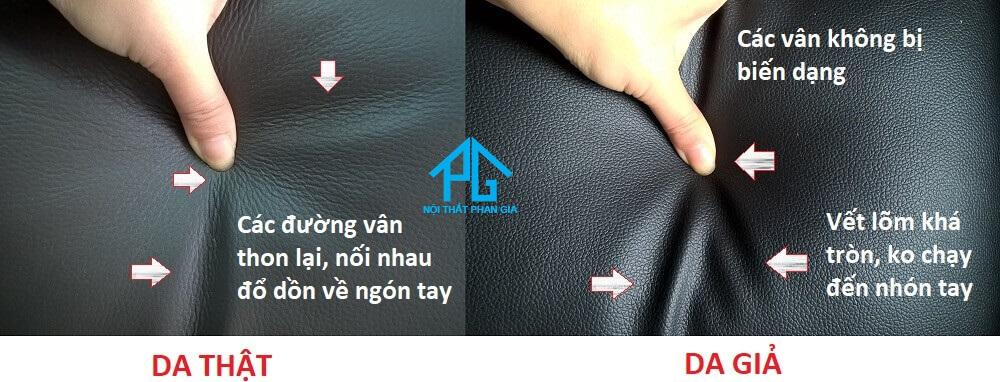 phân biệt sofa da thật với da công nghiệp