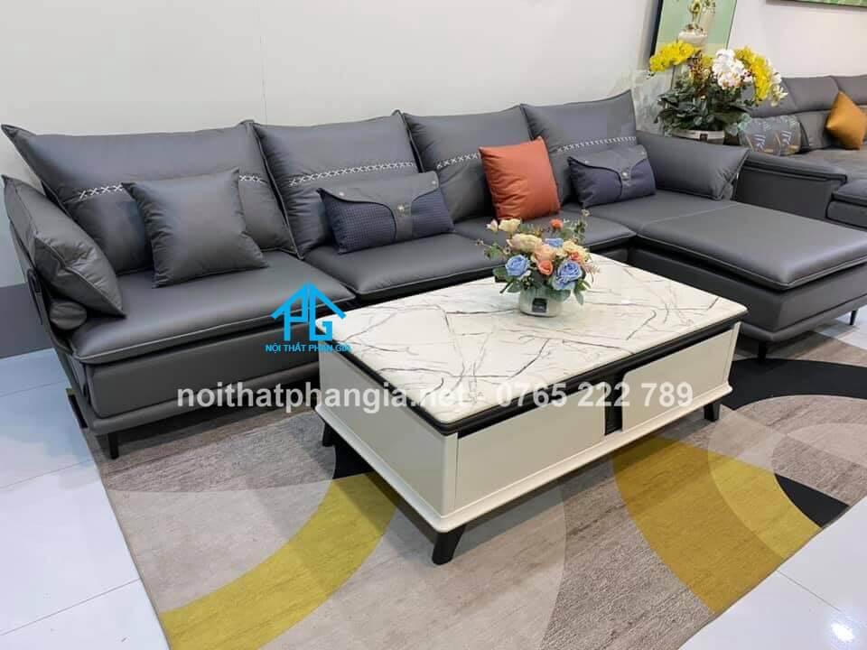 sofa da nhập khẩu đài loan cao cấp;