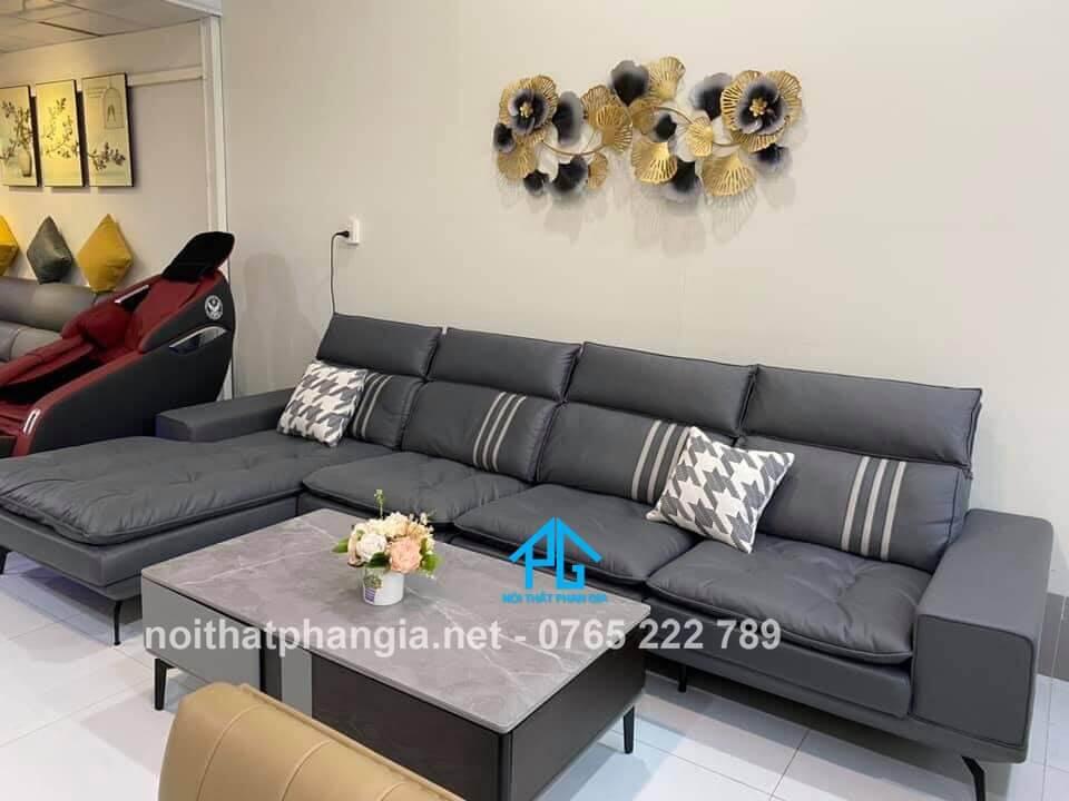 sofa da nhập khẩu italia;