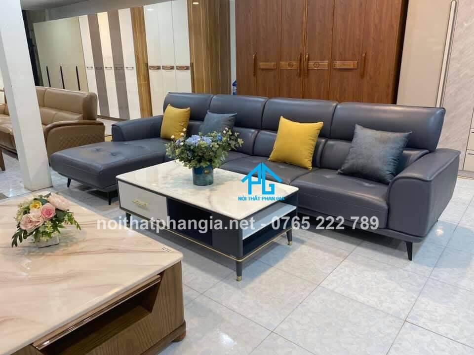 sofa da phòng khách nhập khẩu giá rẻ;