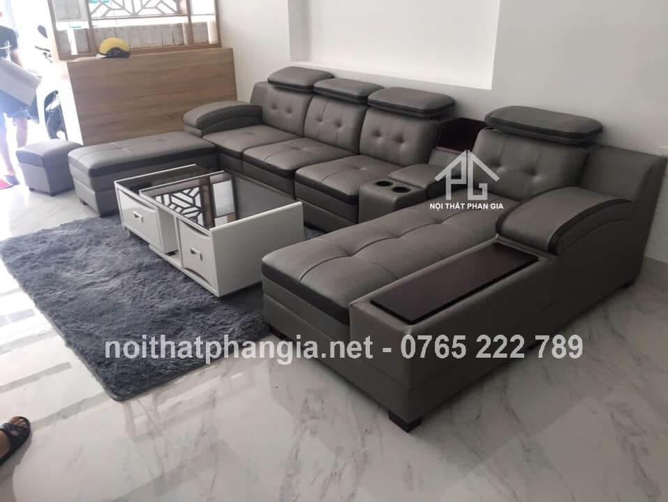 sofa da thật nhập khẩu cao cấp;