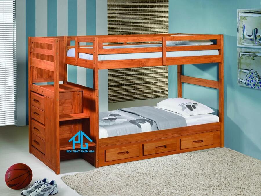 thiết kế phòng ngủ có giường tầng cho bé