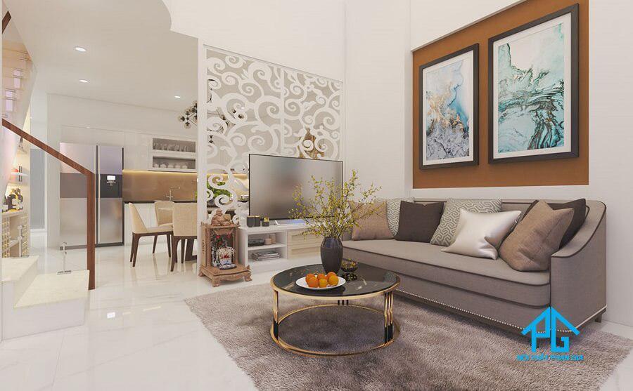 bộ sofa vải hiện đại cho nhà ống