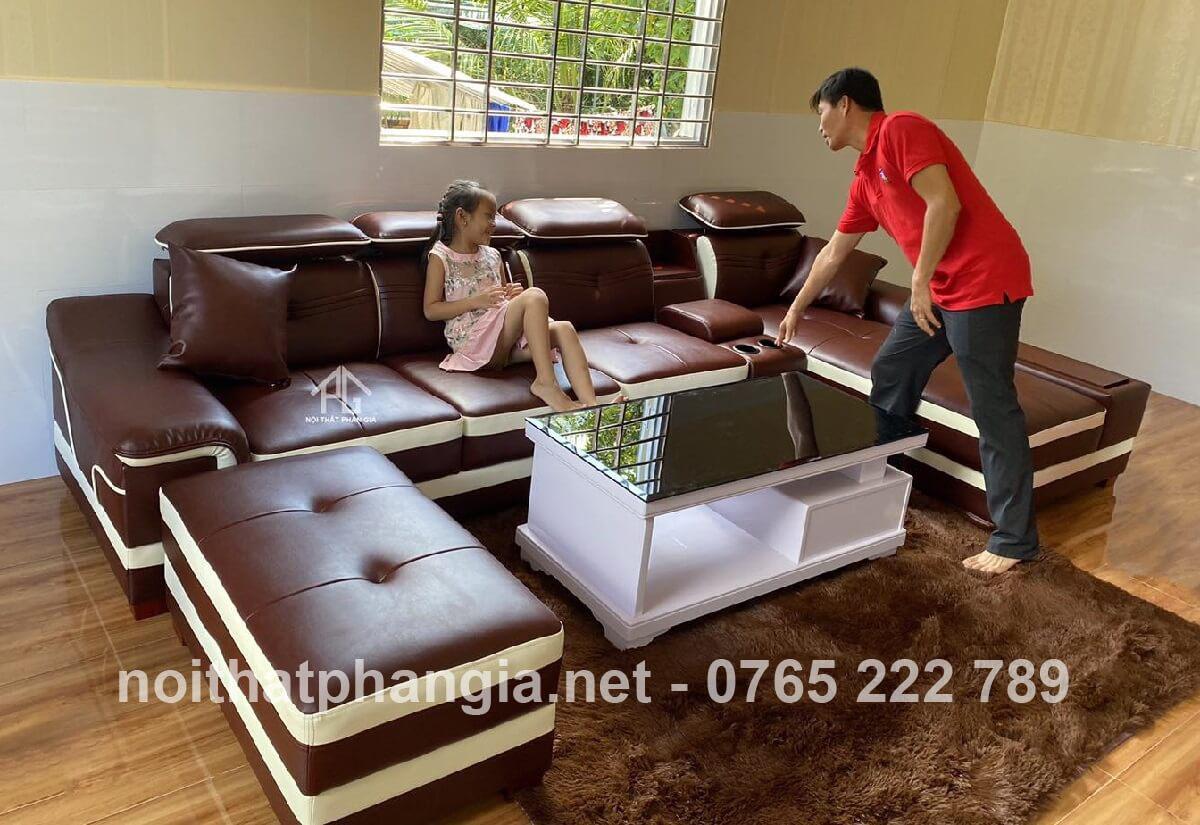 bọc ghế sofa da simili tại nhà;