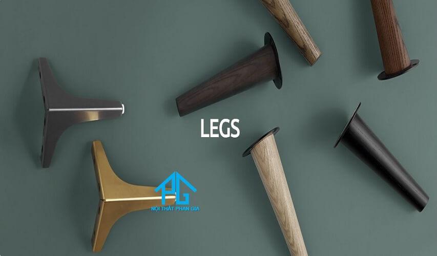 Sofa chân gỗ, chân inox hay chân sắt ? Nên dùng chân ghế sofa nào?