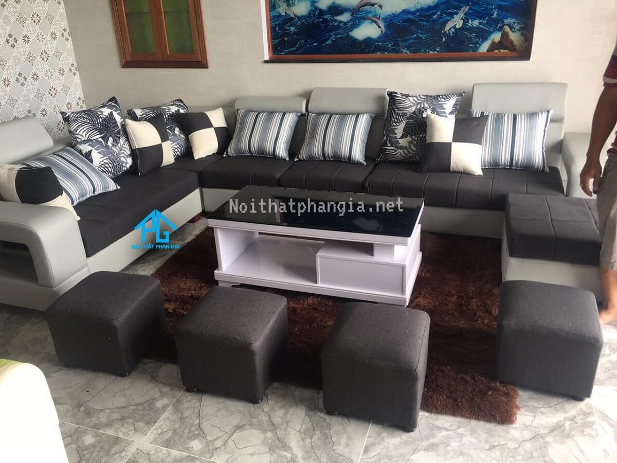 đặt sofa đúng phong thủy trong phòng khách;