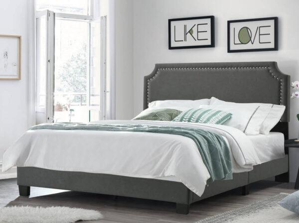 giường bọc vải thô