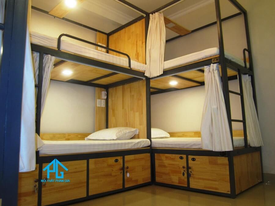 giường sắt 2 tầng cho homstay