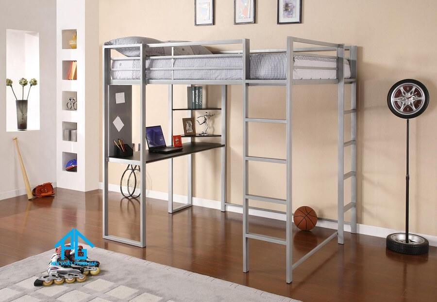 giường tầng sắt kết hợp bàn làm việc