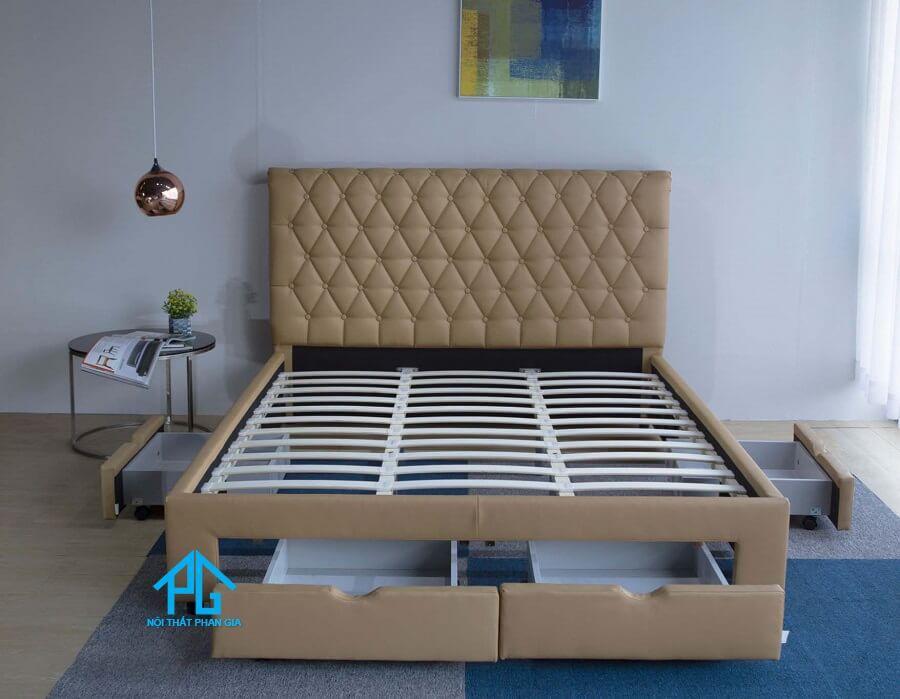 khung giường ngủ bọc đệm hiện đại