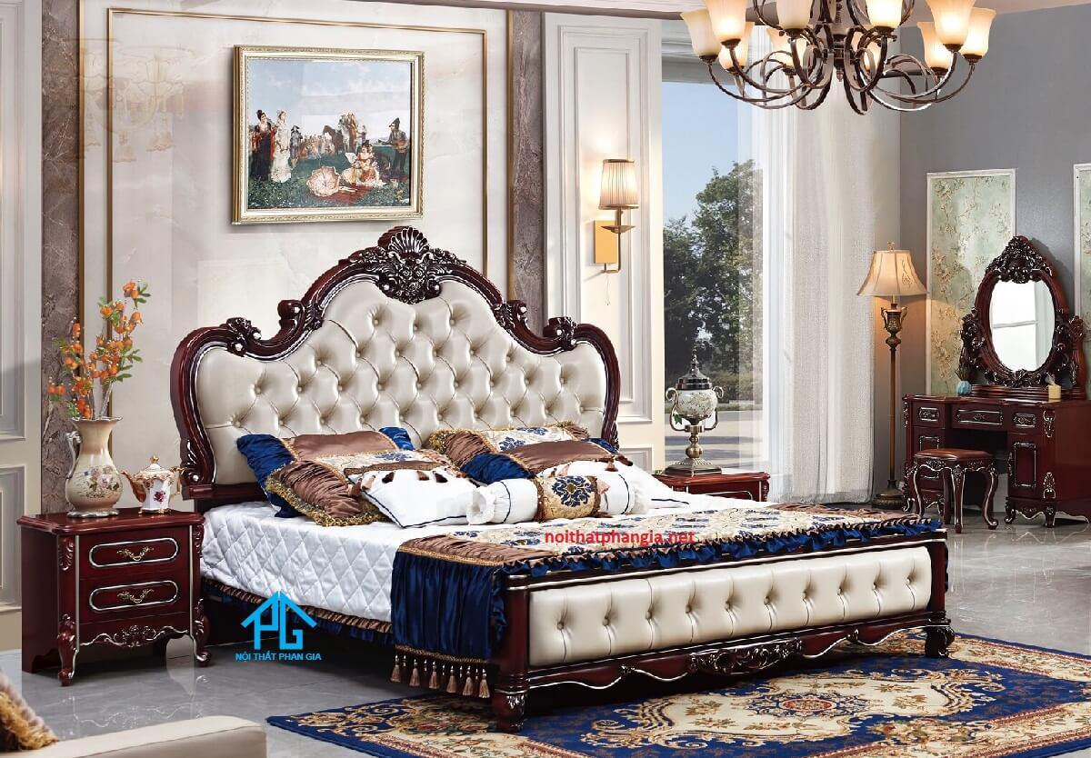 mẫu giường ngủ bọc da cao cấp đẹp;