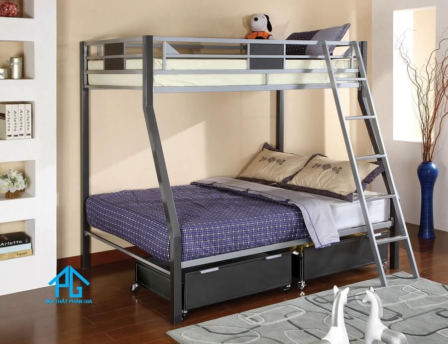 mẫu giường tầng sắt 2 tầng đẹp