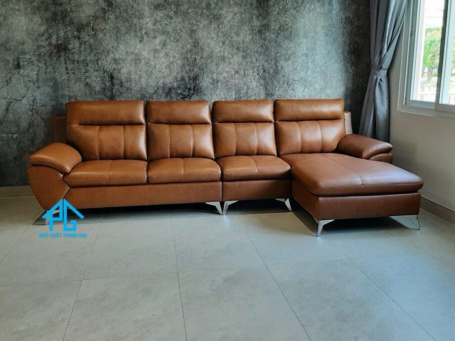 sofa da bò cho nhà ống