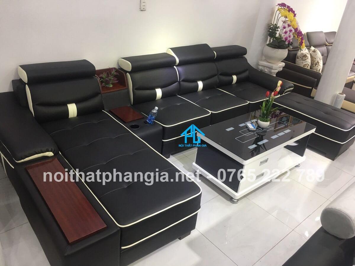 sofa da microfiber hiện đại;