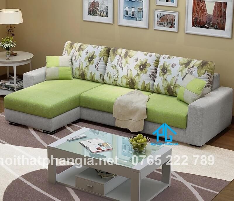 sofa nhập khẩu góc L nhà ống;