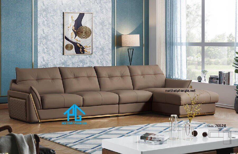 sofa góc L cao cấp
