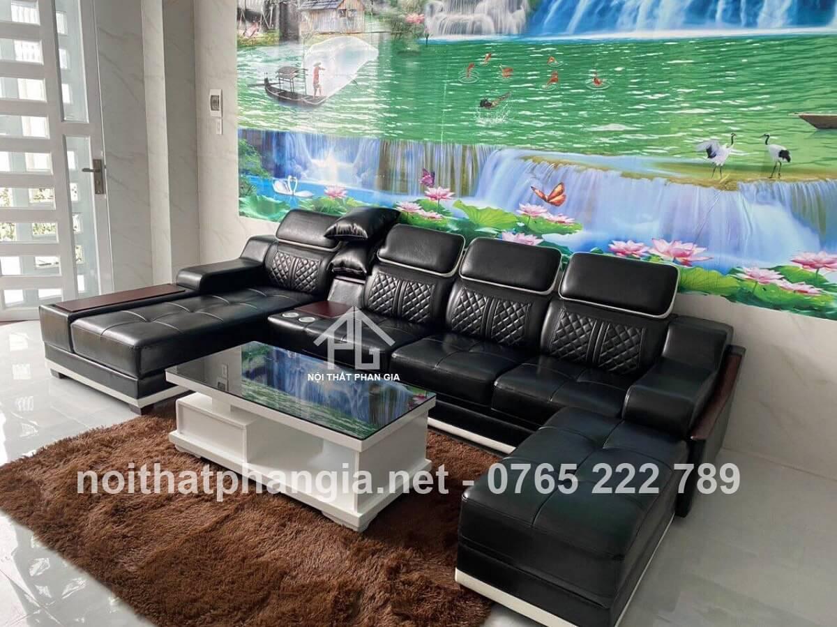 sofa màu đen mệnh mộc;