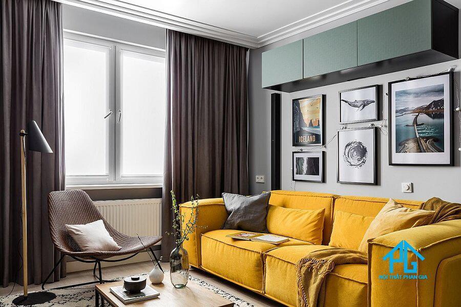 sofa màu vàng mệnh thổ