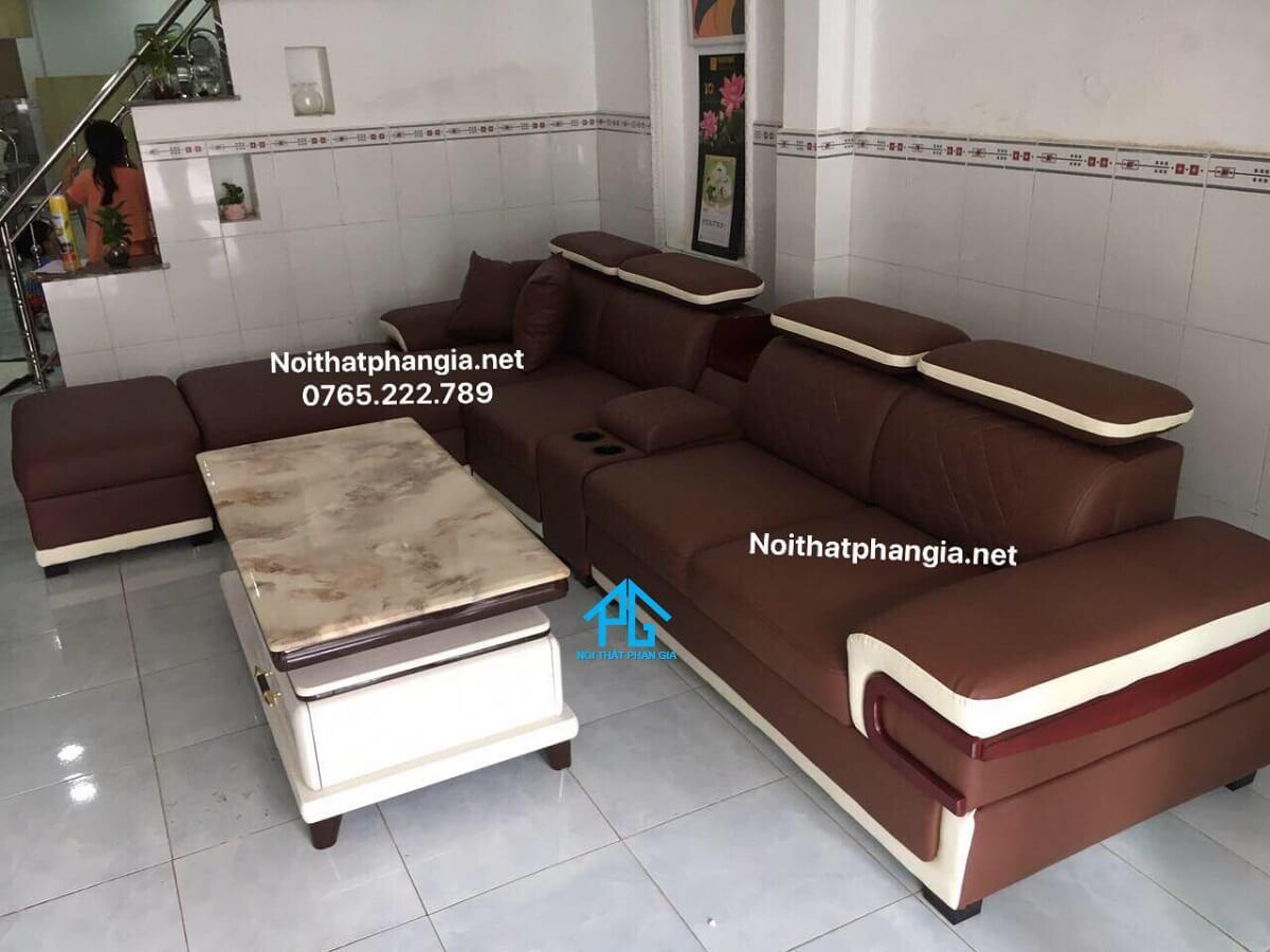 sofa phòng khách màu đỏ mệnh hỏa