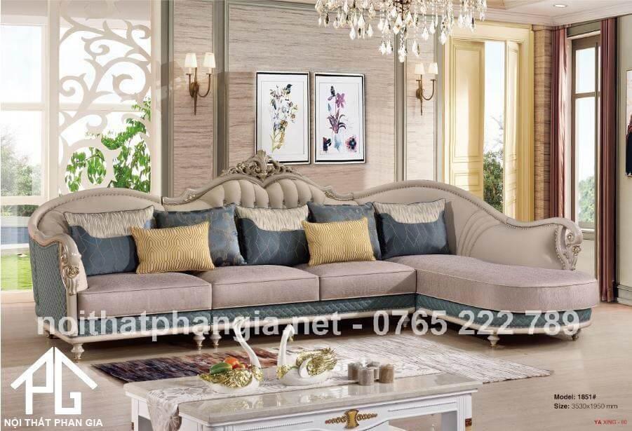 sofa tân cổ điển da microfiber;