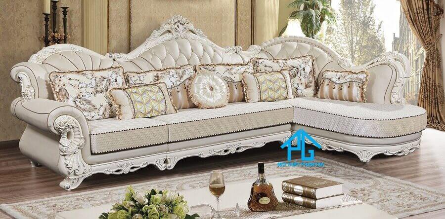 sofa tân cổ điển nhà ống
