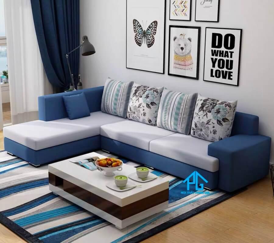 sofa vải cho phòng khách hẹp