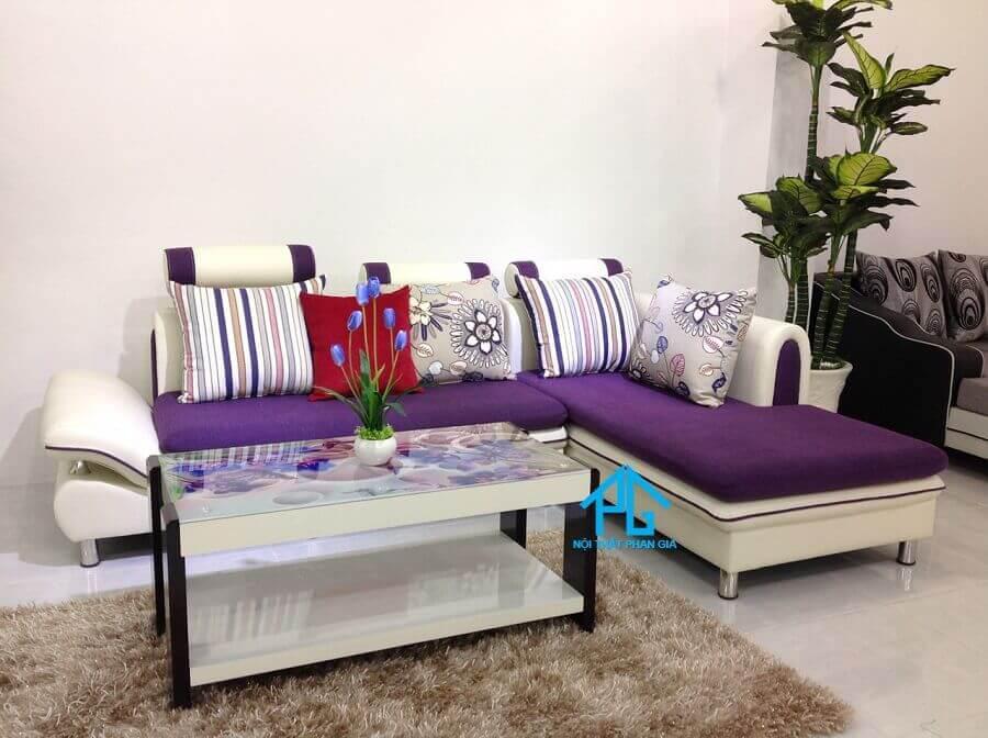 sofa vải góc L cho nhà nhỏ