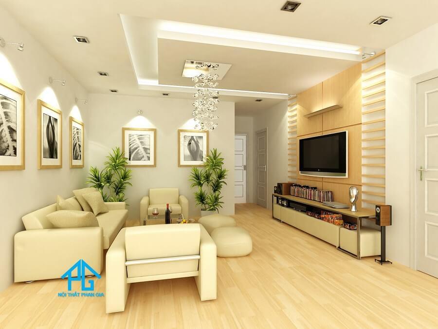 thiết kế sofa cho nhà ống