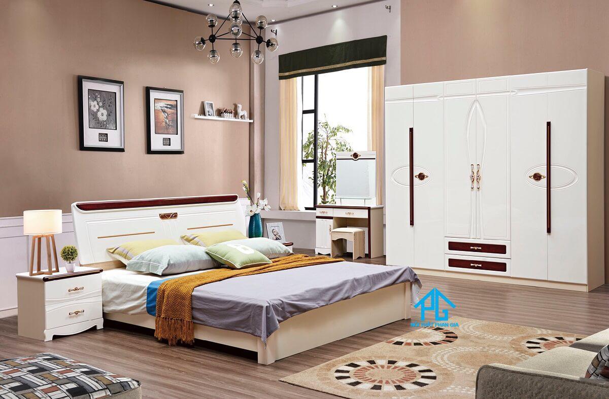 combo giường tủ hiện đại nhập khẩu cao cấp