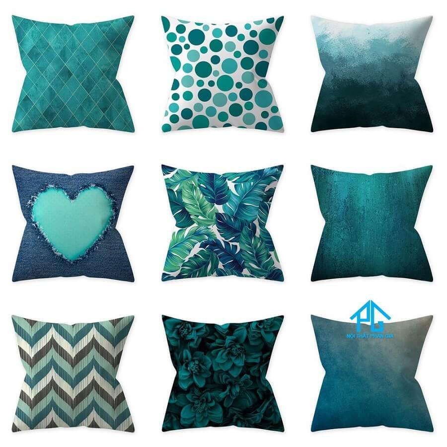 gối sofa vải polyesste