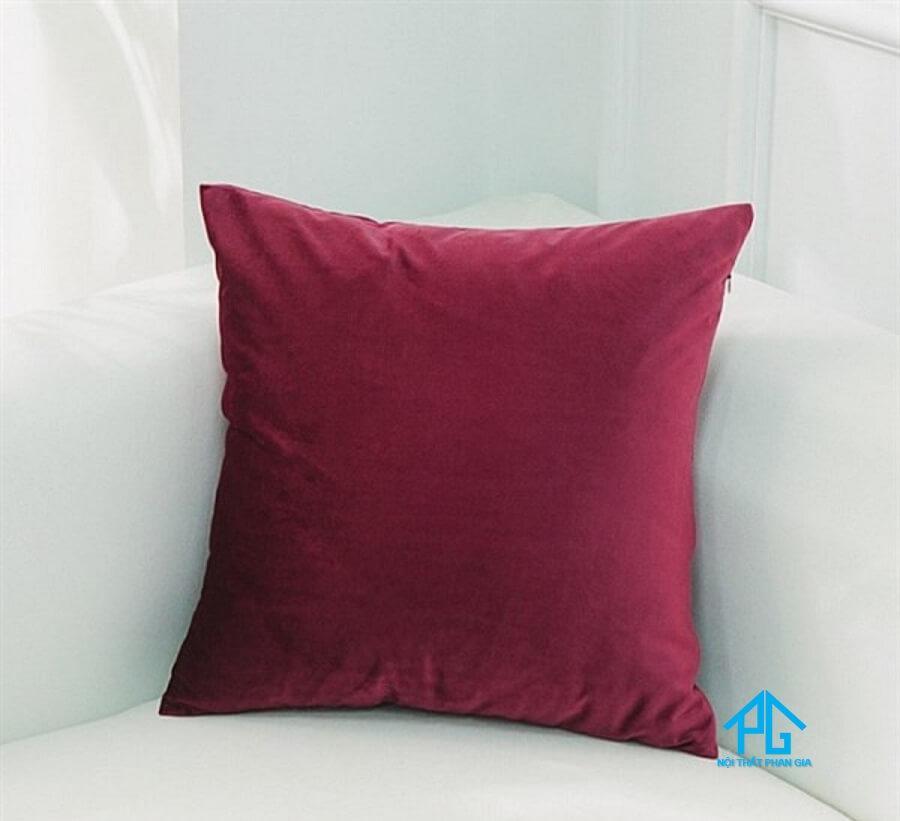 gối tựa lưng sofa màu đỏ