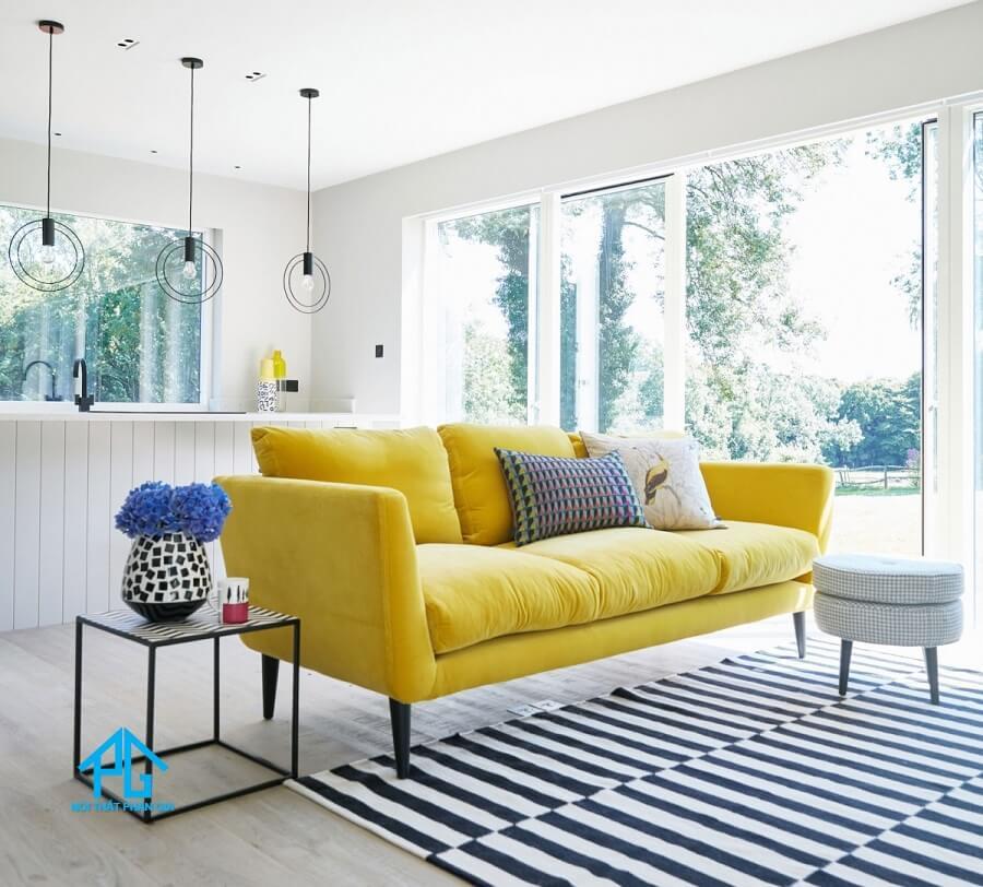 lựa chọn gối tựa cho sofa phòng khách