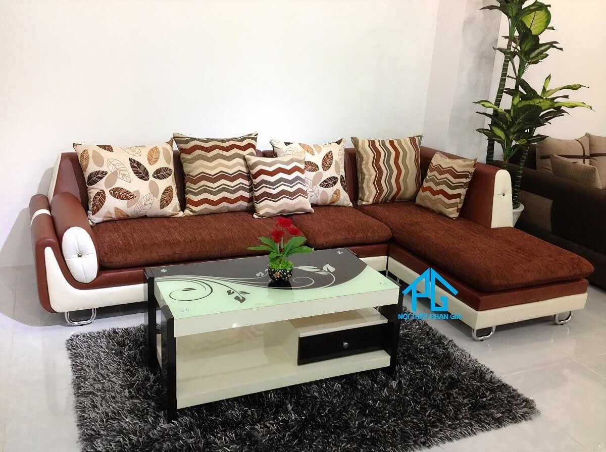 mua sofa góc L vải hiện đại tphcm