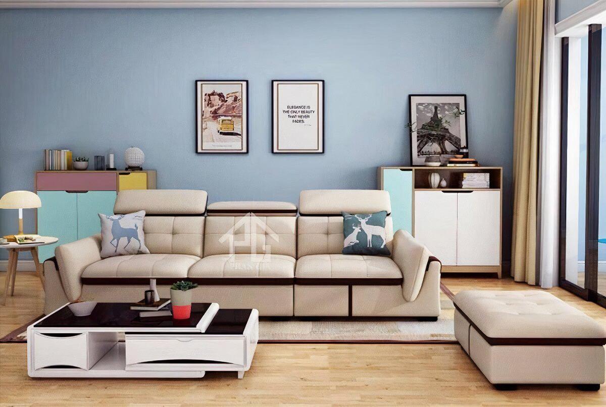 sofa băng da công nghiệp tphcm đẹp