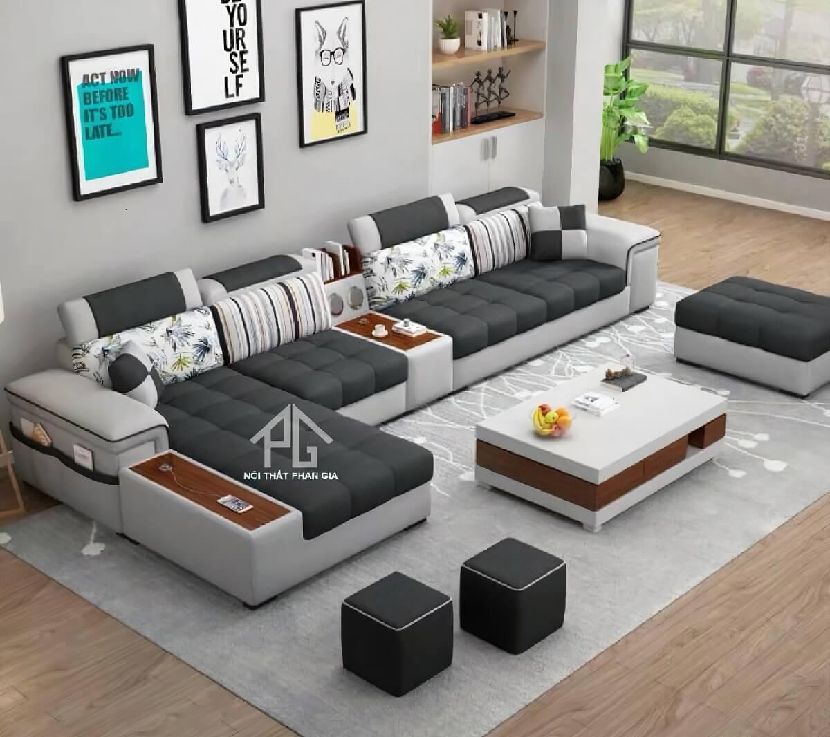sofa vải phòng khách tphcm đẹp