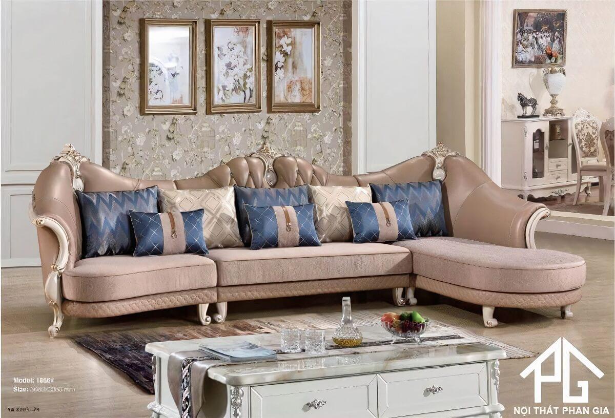 sofa vải tân cổ điển tphcm tốt nhất
