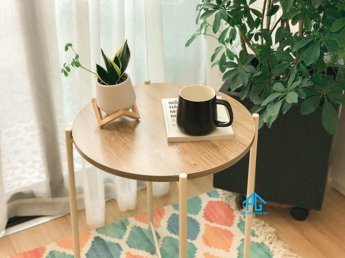 trang trí bàn trà sofa