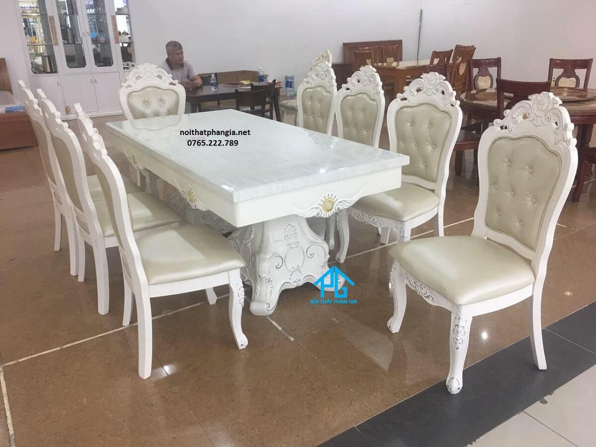 bàn ăn nhập khẩu chữ nhật 8 ghế tphcm giá rẻ