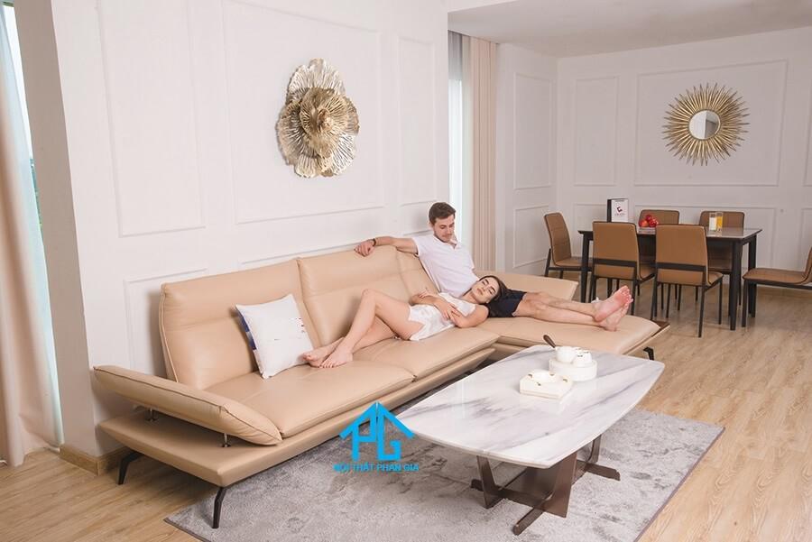 mẫu ghế sofa da đẹp hiện đại tphcm