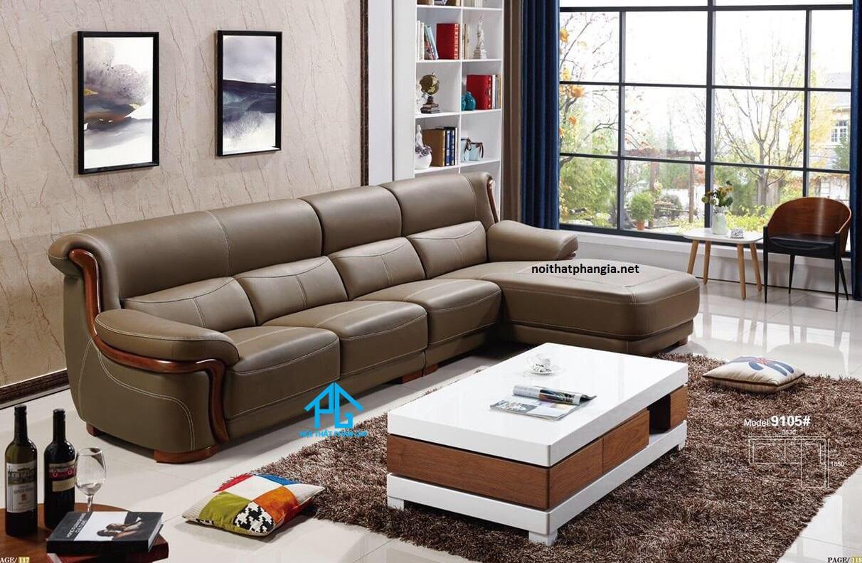 sofa da hiện đại gia đình giá rẻ