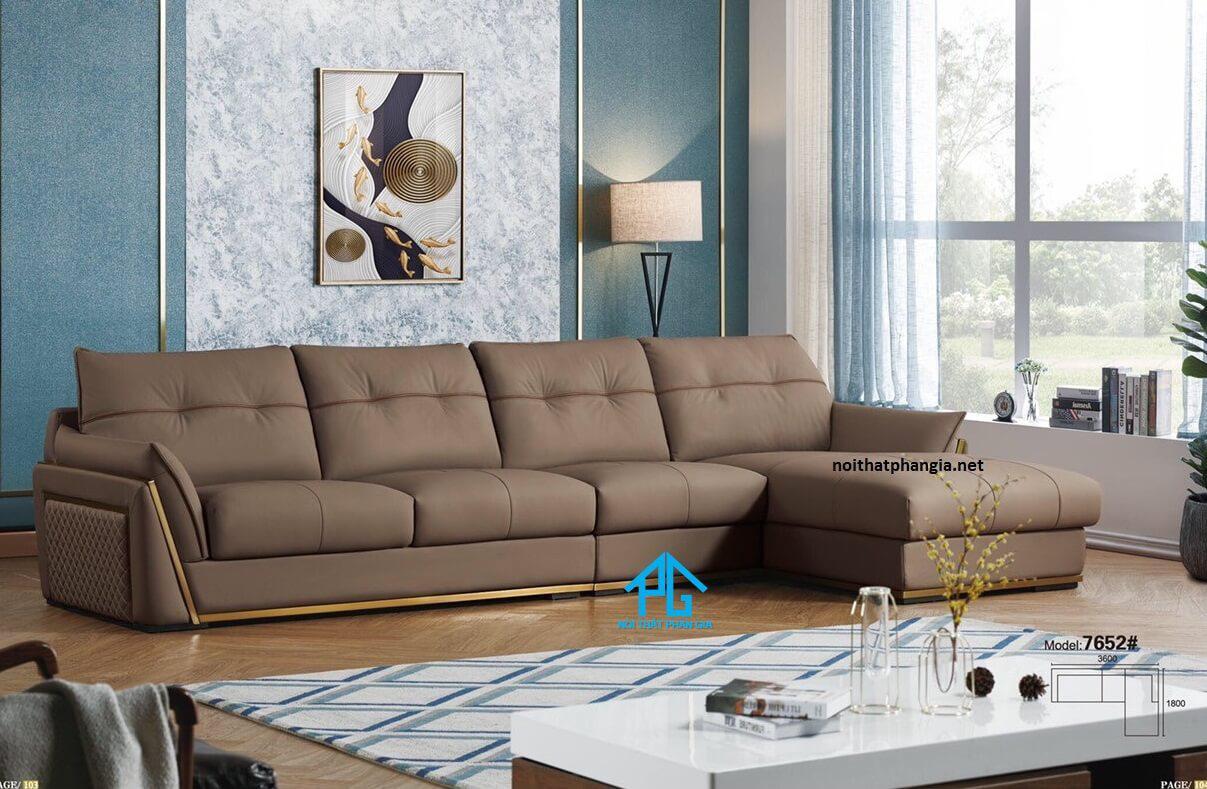 sofa da hiện đại văn phòng chất lượng