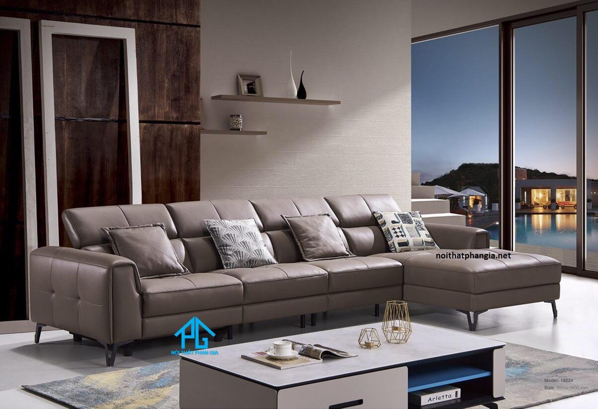 sofa da tiếp xúc hiện đại đẹp