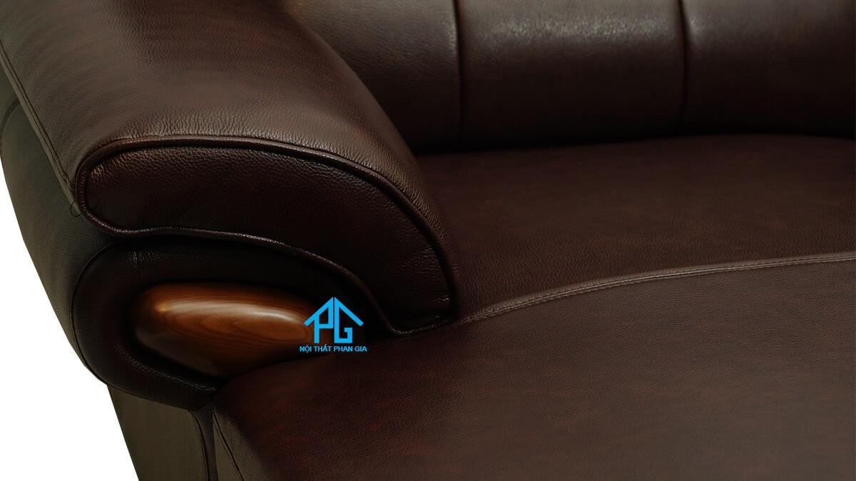 ghế sofa da cao cấp nhập khẩu phòng khách